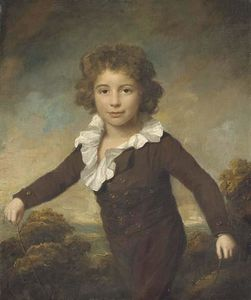 Lemuel Francis Abbott - Portrait of a young boy
