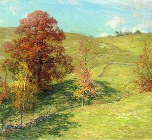 Willard Leroy Metcalf - The Red Oak (no.2)