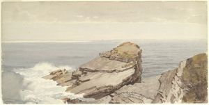 William Trost Richards - Rocks on the Shore
