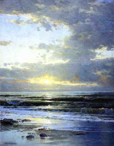 William Trost Richards - Sunrise on the Beach