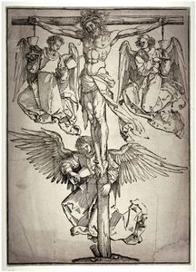 Albrecht Durer - Christ on the Cross with Three Angels