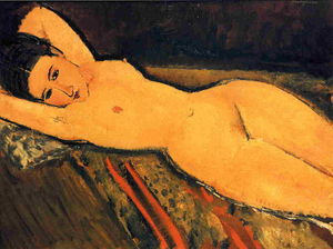 Amedeo Modigliani - Reclining Nude, Arms Folded under Her Head