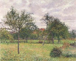 Camille Pissarro - Afternoon in Eragny grey weather