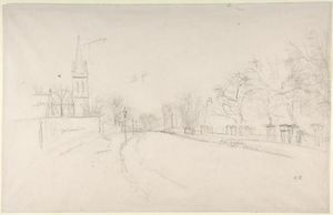 Camille Pissarro - All Saints Church, Upper Norwood seen from the north side of Beulah Hill