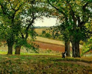 Camille Pissarro - Chestnut Trees at Osny