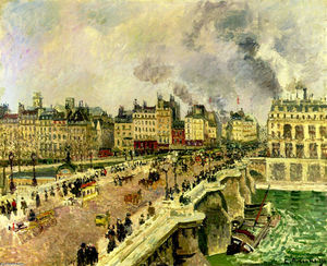 Camille Pissarro - The Pont Neuf, Shipwreck of the Bonne Mere