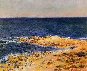 Claude Monet - The 'Big Blue' at Antibes (aka The Seat at Antibes)