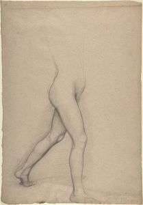 Edgar Degas - Study of a Girl's Legs for the painting ''Young Spartans''
