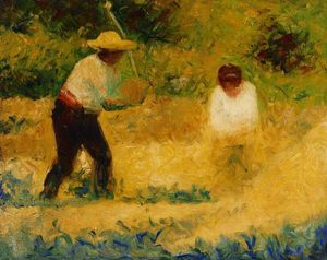 Georges Pierre Seurat - The Stone Breaker 2