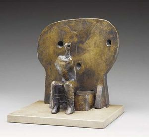 Henry Moore - Armless Seated Figure against Round Wall