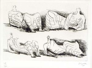 Henry Moore - Four Draped Reclining Figures