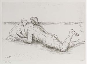 Henry Moore - Plate XIX, from Mother and Child