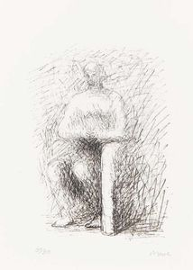 Henry Moore - Seated Figure I Line Drawing