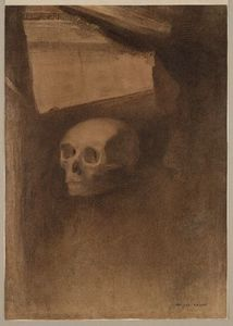 Odilon Redon - Through the Crack a Death's-Head Was Projected