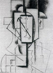 Pablo Picasso - Head of a Harlequin