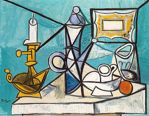Pablo Picasso - Still life with lamp