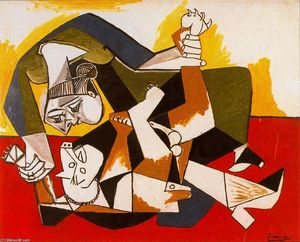 Pablo Picasso - Woman playing with dog