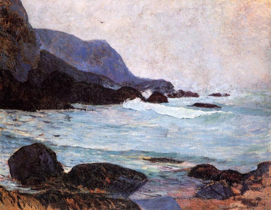 famous painting The Coast of Bellangenay of Paul Gauguin