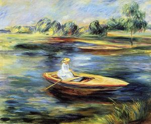Pierre-Auguste Renoir - Young Woman Seated in a Rowboat