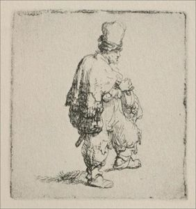 Rembrandt Van Rijn - A Polander Walking Towards the Right