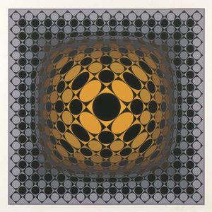 Victor Vasarely - Abstract Composition 32