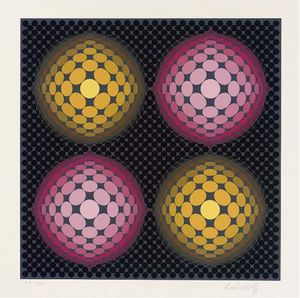 Victor Vasarely - Abstract composition 5