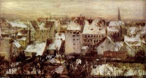 Adolph Menzel - Houses in Berlin in Snow