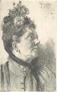 Adolph Menzel - Woman with a Crushed Velvet Hat