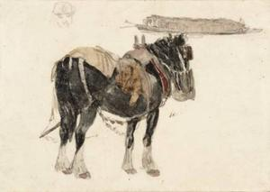 David Cox - Horse And Barge