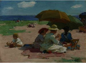 Edward Henry Potthast - At the Beach 4