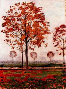 Ferdinand Hodler - Alameda chestnut in autumn