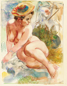George Grosz - Nude with Hat