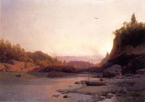 Herman Herzog - Evening on the Susquehanna