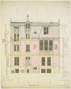 Jasper Francis Cropsey - City House, Front Elevation