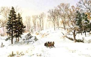 Jasper Francis Cropsey - Winter on Rivensdale Road, Hastings-on-Hudson, New York