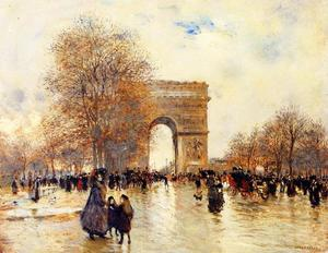 Jean-François Raffaelli - The Arc de Triomphe, Autumn Effect