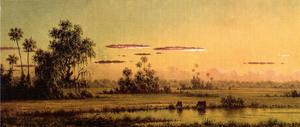 Martin Johnson Heade - Florida Sunset with Two Cows