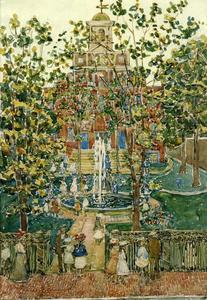 Maurice Brazil Prendergast - The Bartol Church (aka The Fountain)