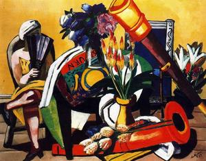 Max Beckmann - Large Still Life with Telescope