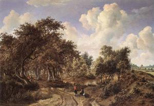 Meindert Hobbema - A Wooded Landscape