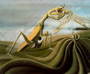 Oscar Dominguez - Praying mantis