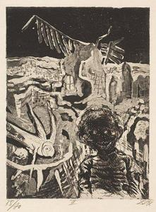 Otto Dix - Night-time encounter with a madman