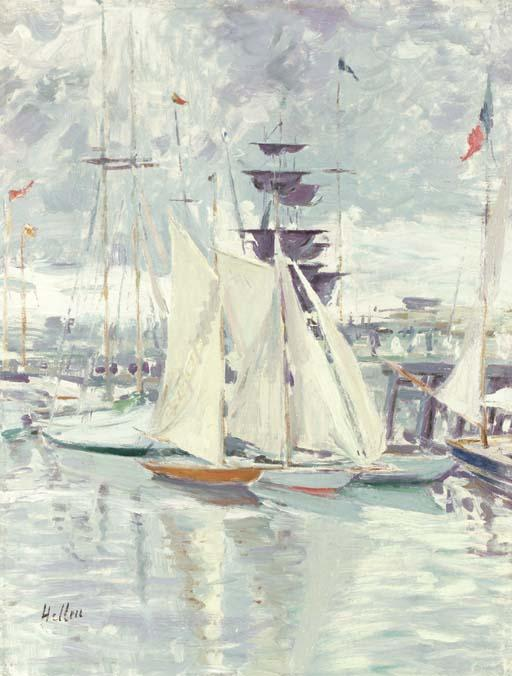 famous painting The Deauville Basin of Paul Cesar Helleu