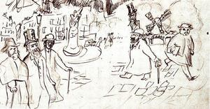 Pierre Bonnard - Sketchbook sheet from The life of the artist