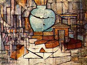 Piet Mondrian - Still life with vase of spices II