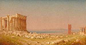 Sanford Robinson Gifford - Ruins of the Parthenon