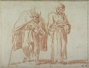 Sebastiano Ricci - An old man and a religious