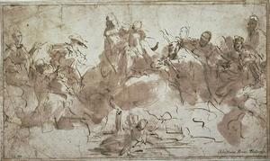 Sebastiano Ricci - The Virgin and Child on clouds and saints