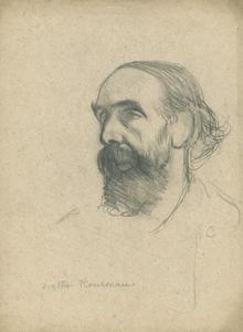George Clausen - Study of a head for the portrait of Monsieur Victor Rousseau