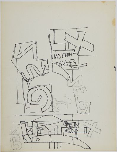 famous painting Study for ''The Mellow Pad'' of Stuart Davis